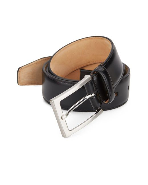 Saks Fifth Avenue - Black Leather Belt for Men - Lyst