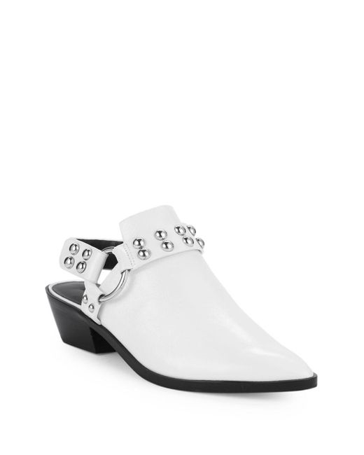 7738e6e752f Lyst - Rebecca Minkoff Korlyn Leather Mules in White