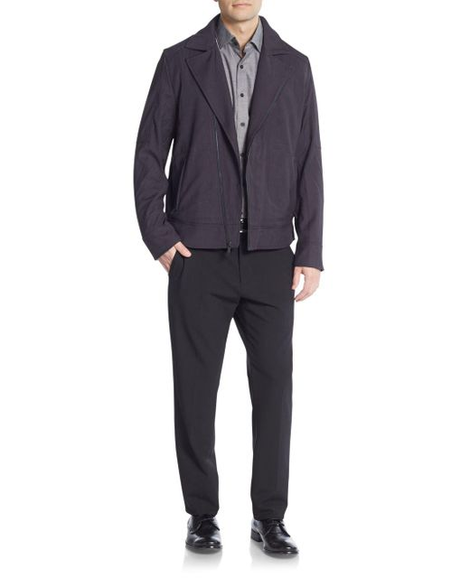 Vince Camuto - Blue Moto Jacket for Men - Lyst