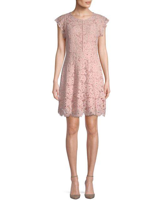 BB Dakota - Pink Arrie Lace Dress - Lyst