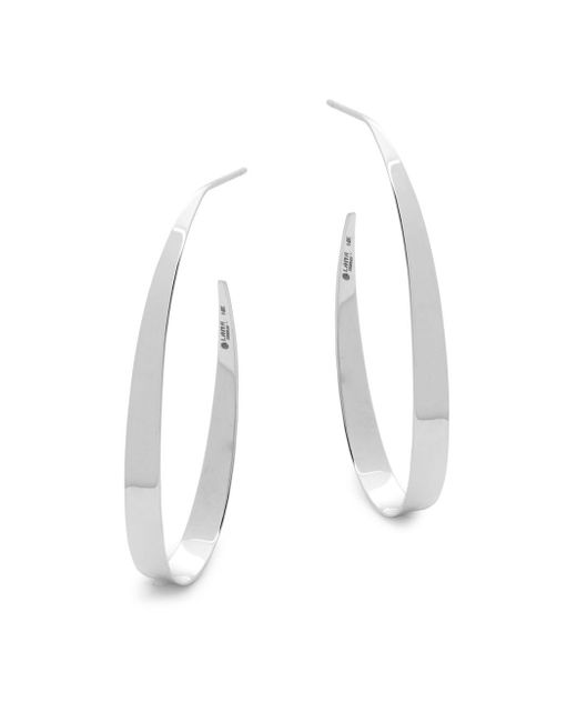 Lana Jewelry - Metallic 14k White Gold Small Oval Gloss Earrings - Lyst