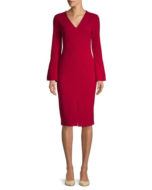 Maggy London - Red Classic Sheath Dress - Lyst