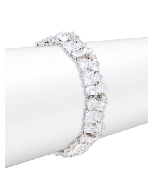 Saks Fifth Avenue - Metallic Crystal & Silver Bracelet - Lyst