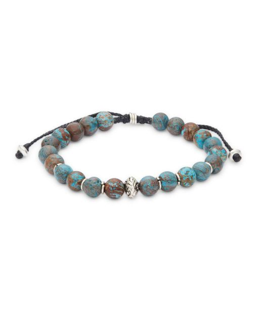 Link Up - Blue Polished Single Strand Bracelet - Lyst