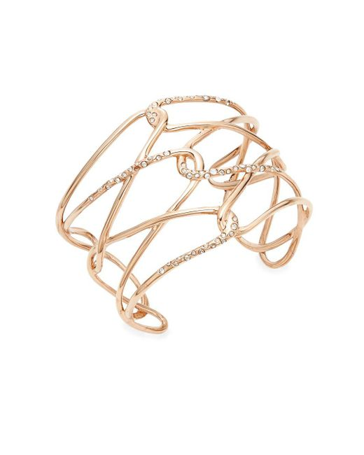 Alexis Bittar | Metallic Miss Havisham Liquid Crystal Barbed Cuff Bracelet/rose Goldtone | Lyst