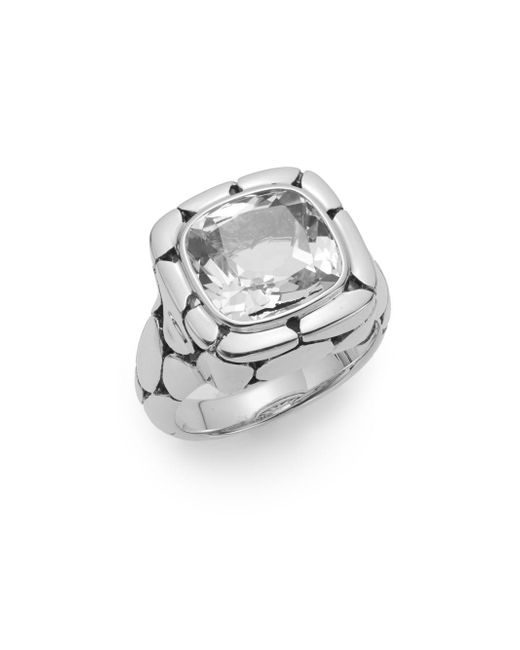 John Hardy | Metallic Batu Kali White Topaz & Sterling Silver Ring | Lyst