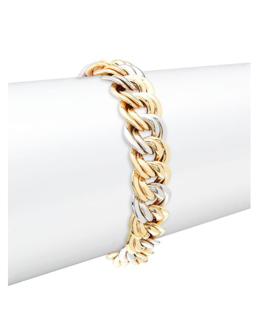 Saks Fifth Avenue - Metallic Made In Italy 14k Gold Chain Bracelet - Lyst