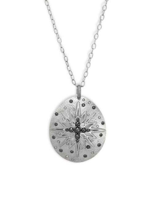 Bavna | Metallic Champagne Diamond, Black Spinel & Sterling Silver Necklace | Lyst