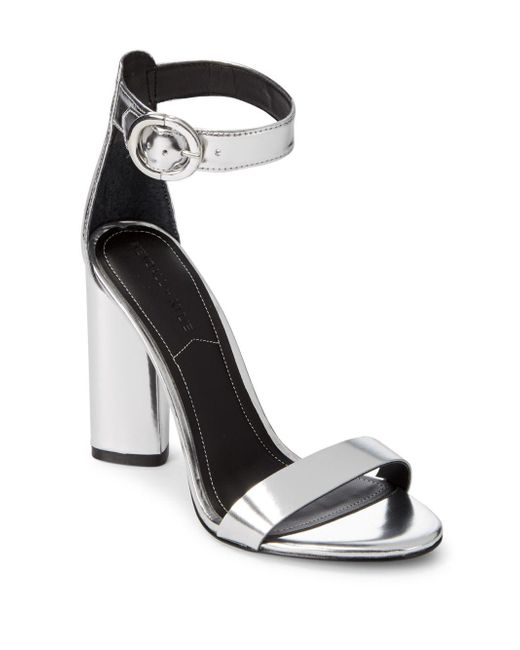 Kendall + Kylie - Metallic Giselle High-heel Suede Ankle Strap Sandals - Lyst