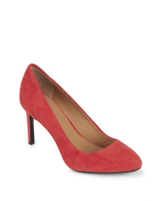 Calvin Klein - Red Salsha Leather Pumps - Lyst
