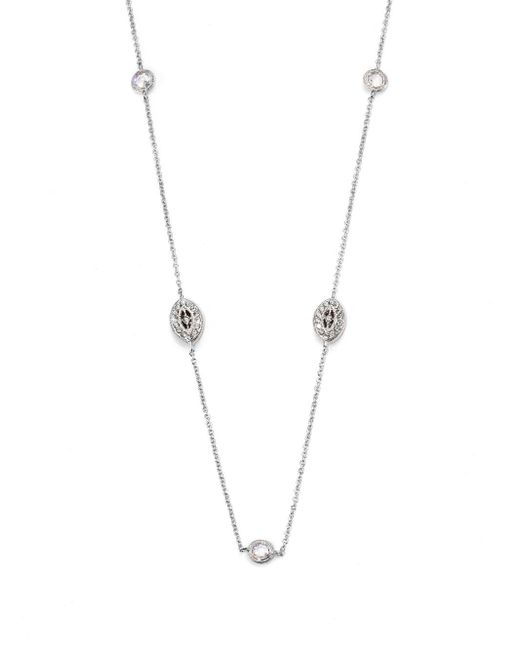 Adriana Orsini | Metallic Pavà Navette Double Wrap Necklace | Lyst