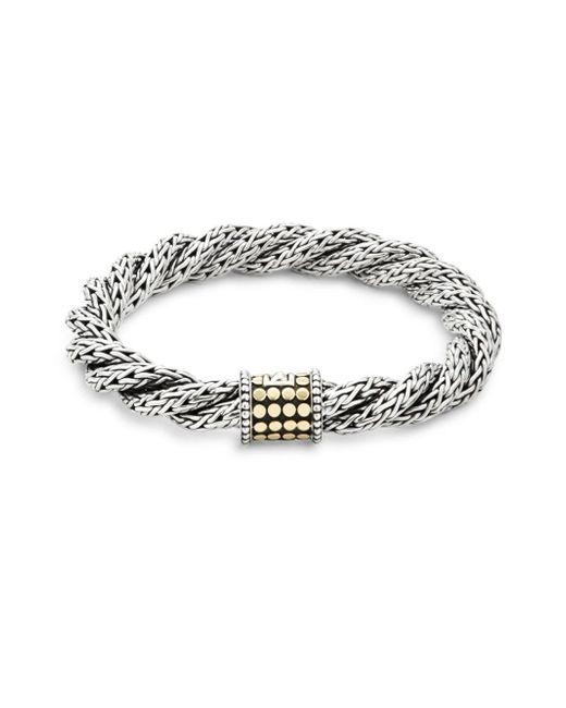 John Hardy - Metallic Triple Twist 18k Yellow Gold & Sterling Silver Bracelet - Lyst