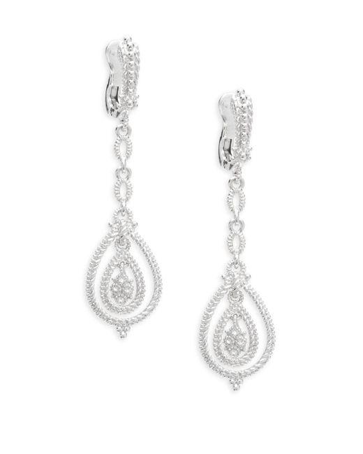 Saks Fifth Avenue - Metallic Sky Blue Topaz & Sterling Silver Drop Earrings - Lyst