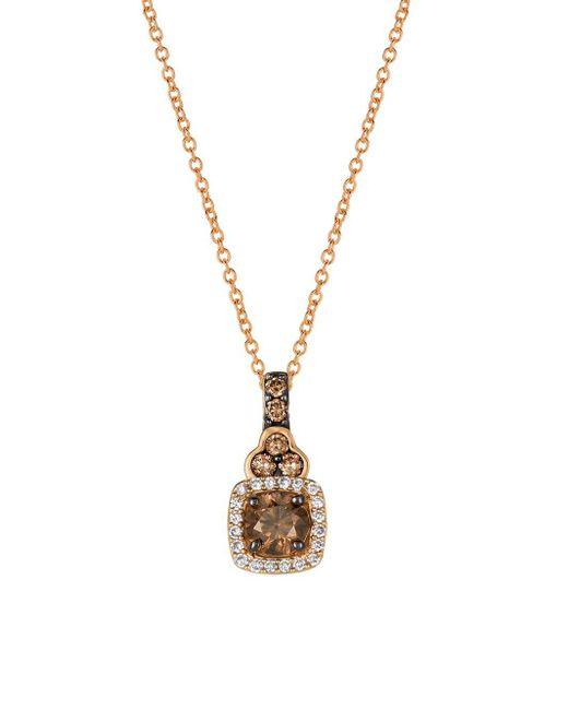 Le Vian - Brown Chocolatier® Chocolate Diamond® & Strawberry Gold® Pendant Necklace - Lyst