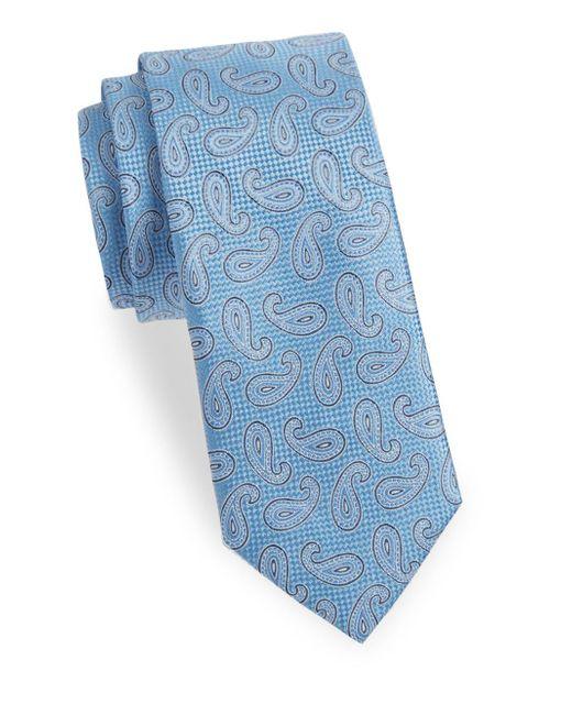 Saks Fifth Avenue - Blue Paisley Silk Tie for Men - Lyst