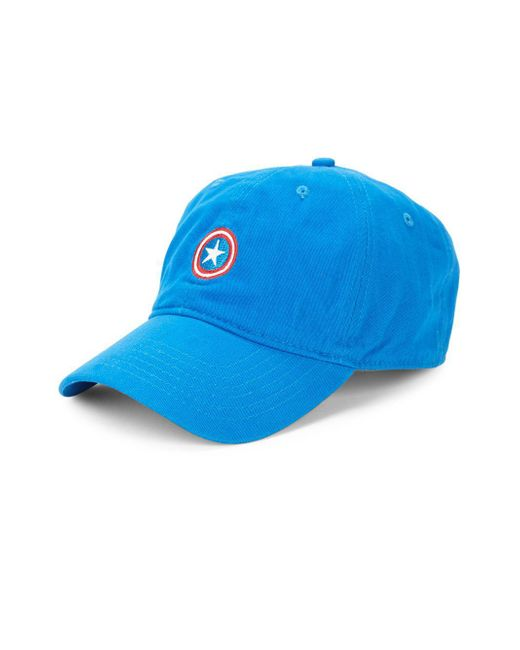 Block Headwear - Blue Captain America Dad Cotton Baseball Cap for Men - Lyst