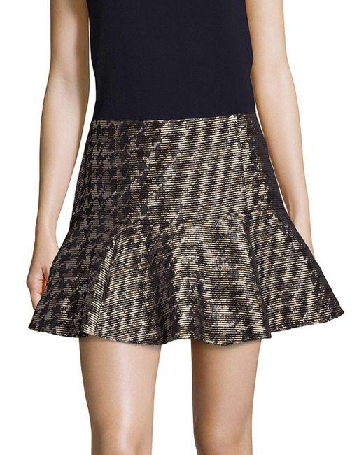Parker - Metallic Fit-&-flare Skirt - Lyst