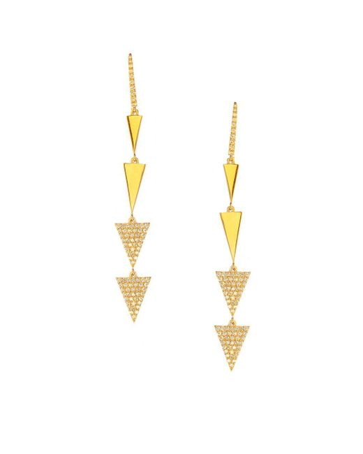 Lana Jewelry - Metallic Flawless 14k Yellow Gold & Diamond Electric Spike Drop Earrings - Lyst