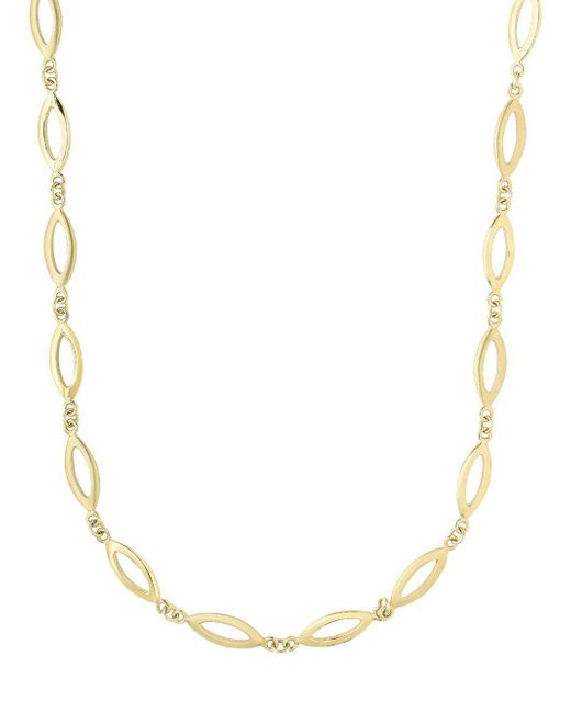 Saks Fifth Avenue - Metallic 14k Yellow Gold Cut-out Loop Necklace - Lyst