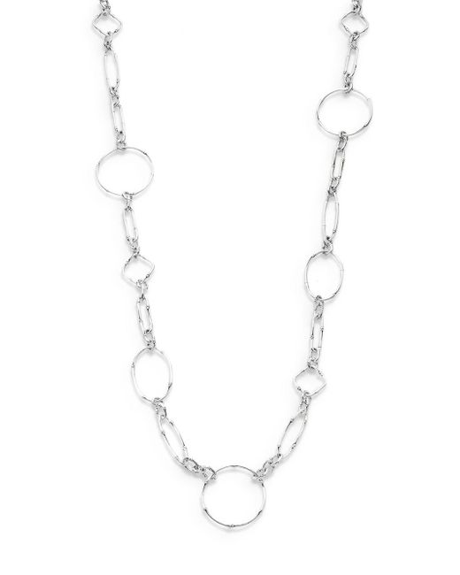 John Hardy   Metallic Bamboo Sterling Silver Sautoir Link Necklace   Lyst