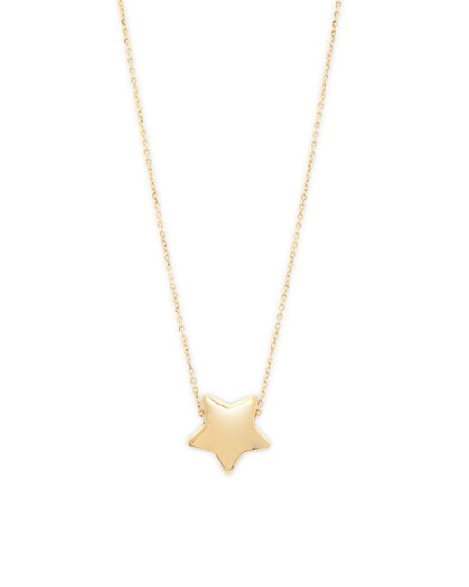 Saks Fifth Avenue - Metallic 14k Yellow Gold Polished Puffed Star Pendant Necklace - Lyst