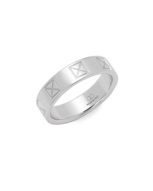 Valentino | Metallic Stud Silvertone Ring | Lyst