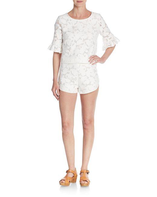 Rebecca Minkoff   White Cher Fil Coupe Shorts   Lyst