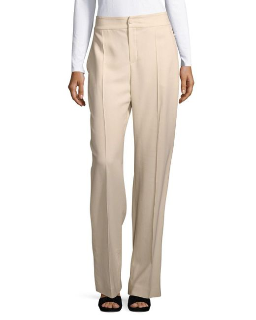 Lanvin | Natural Classic Office Style Pants | Lyst
