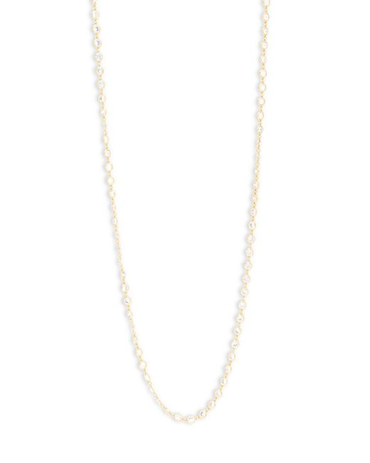 Saks Fifth Avenue - Metallic Cubic Zirconia Goldtone Necklace - Lyst