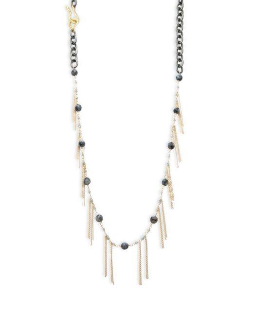 Shoshanna - Metallic Elle Fringed Necklace - Lyst