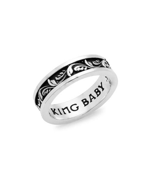 King Baby Studio - Metallic Sterling Sliver Engraved Ring - Lyst