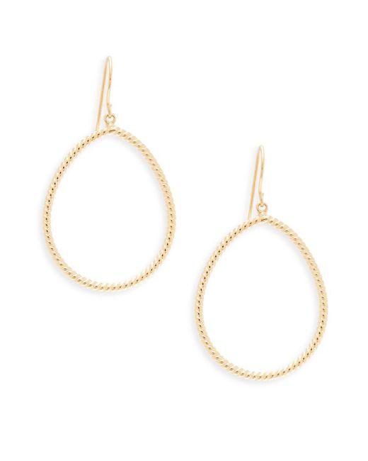 Saks Fifth Avenue - Metallic 14k Pear Twist Earrings - Lyst