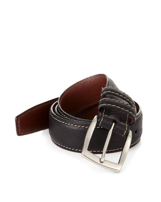 Saks Fifth Avenue - Black Bison Belt for Men - Lyst