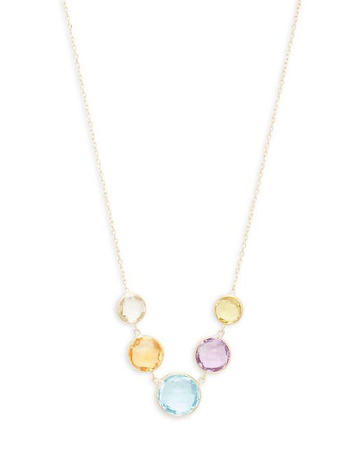 Saks Fifth Avenue - Metallic 14k Yellow Gold And Gemstones Necklace - Lyst