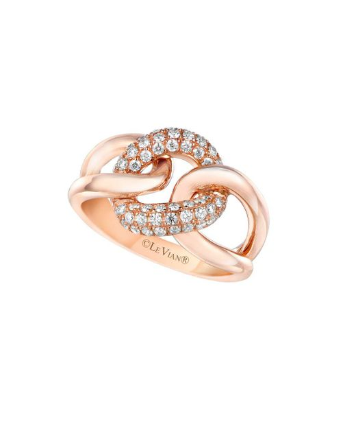 Le Vian - Pink Vanilla Diamond And 14k Strawberry Gold Ring - Lyst