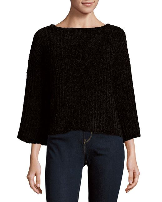 Saks Fifth Avenue | Black Chenille Slouch Sweater | Lyst