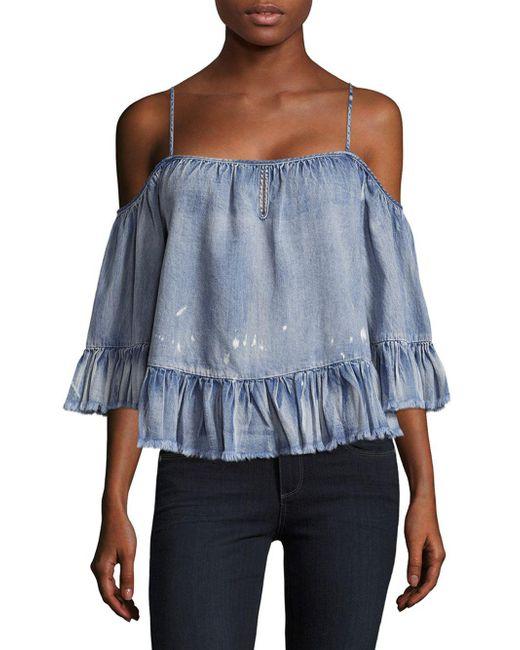Saks Fifth Avenue | Blue Vena Cold-shoulder Top | Lyst