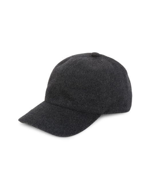 Saks Fifth Avenue Gray Wool-blend Baseball Cap for men