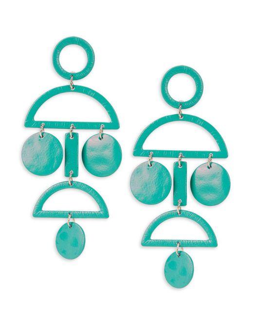 Gemma Simone | Blue Geo Sterling Silver Earrings | Lyst