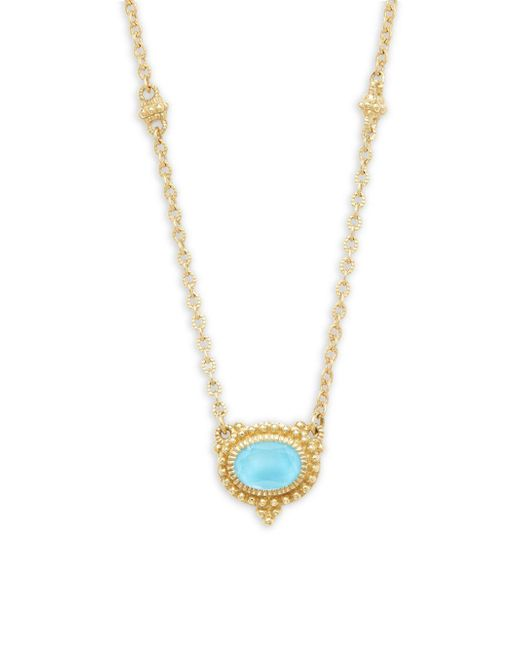 Judith Ripka - Metallic La Petite Turquoise Doublet & 18k Yellow Gold Pendant Necklace - Lyst