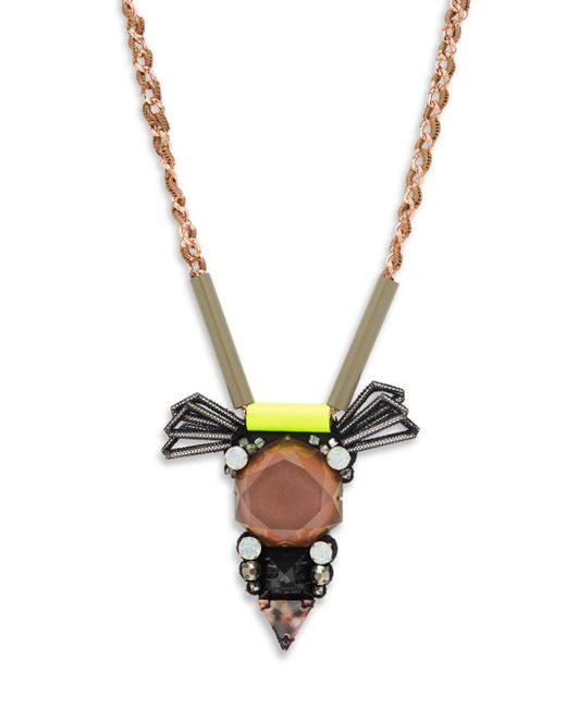 Nocturne - Multicolor Andrea Crystal Chain Necklace - Lyst