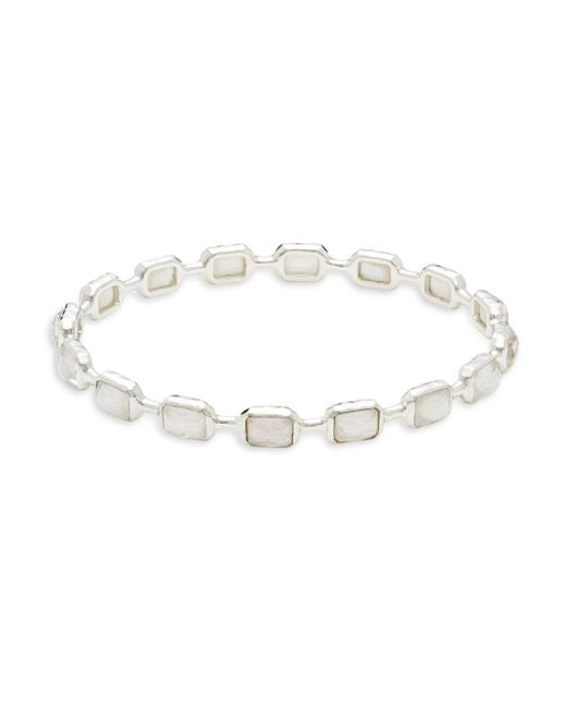Ippolita - Metallic Rock Candy Mother-of-pearl & Sterling Silver Bangle - Lyst