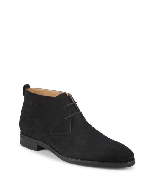 Bally - Black Scarim Suede Chukka Boots for Men - Lyst