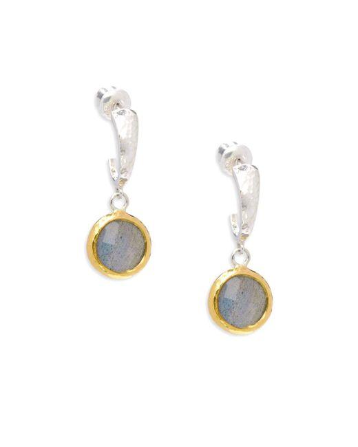 Gurhan   Metallic Galapagos 24k Gold Vermeil Sterling Silver Drop Earrings   Lyst