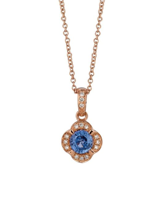 Le Vian - Chocolatier® Blueberry Tanzanite® & Vanilla Diamond® Pendant Necklace - Lyst