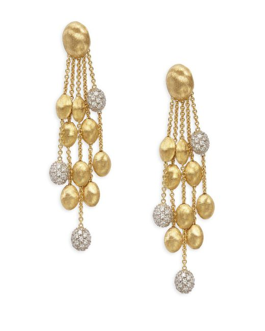 Marco Bicego | Metallic Siviglia Diamond & 18k Gold Earrings | Lyst