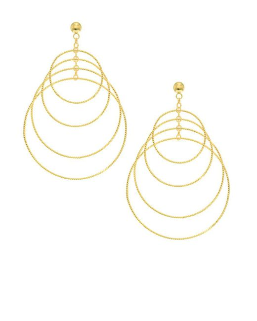 Saks Fifth Avenue | Metallic 14k Yellow Gold Textured Multi Circle Earrings | Lyst