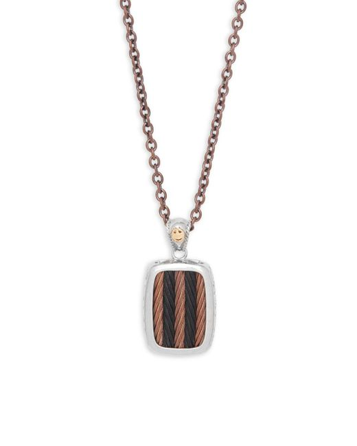 Alor - Metallic Bronze & Black Cable Pendant Necklace - Lyst