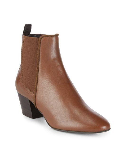 Aquatalia - Brown Felicite Almond Toe Boots - Lyst