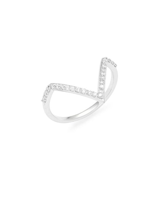 KC Designs | Metallic Diamond & 14k White Gold V Ring | Lyst